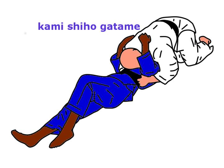 Kami shiho gatame. Judo